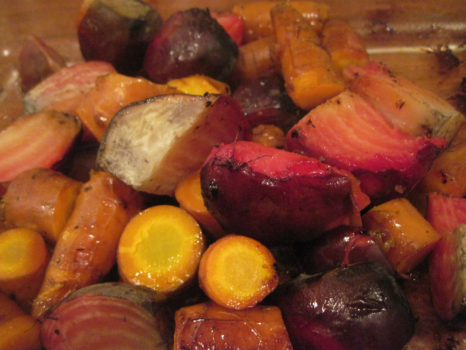 Baked Beets and Carrots | mooreorlesscooking